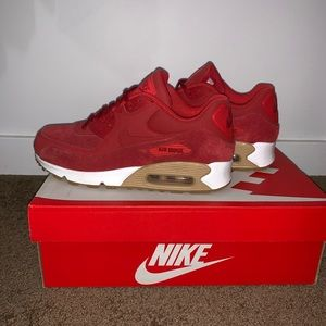 Red Suede AirMax 90s